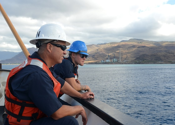 Feature: Coast Guard Cutter Walnut Conducts Maintaining Hawaii's Aids to Navigation Patrol off Hawaii