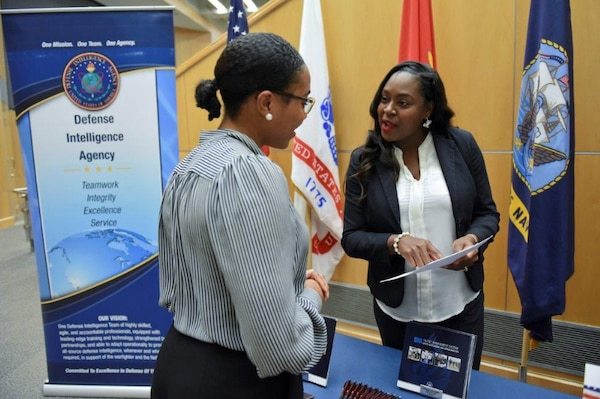 The Defense Intelligence Agency hosts hiring fairs throughout the year to help fill vacancies and identify talent for the hiring pool.