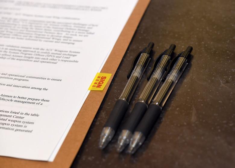 MOA and pens