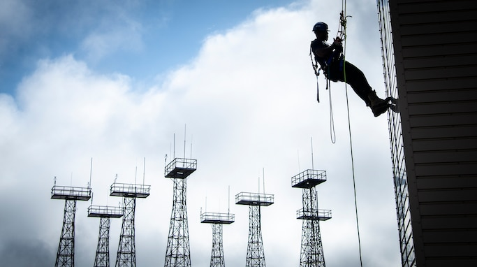 On the ropes:  firefighters complete advanced rescue course