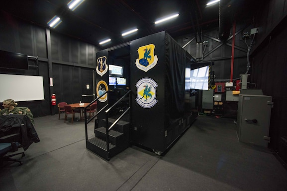 The 166th Airlift Wing C-130H2 flight simulator.