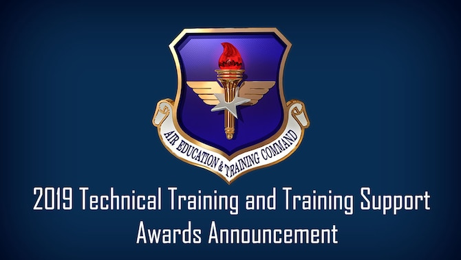 Air Education and Training Command's technical training awards recognize the exceptional performance of units, instructors and flight commanders and flight chiefs in formal schools that teach officially designated technical training courses. The training support awards recognize the exceptional performance of units and personnel who perform duties in technical training specific to support functions, such as career development course writers, training managers, training development element chiefs, and training evaluators. (U.S. Air Force graphic / Dan Hawkins)