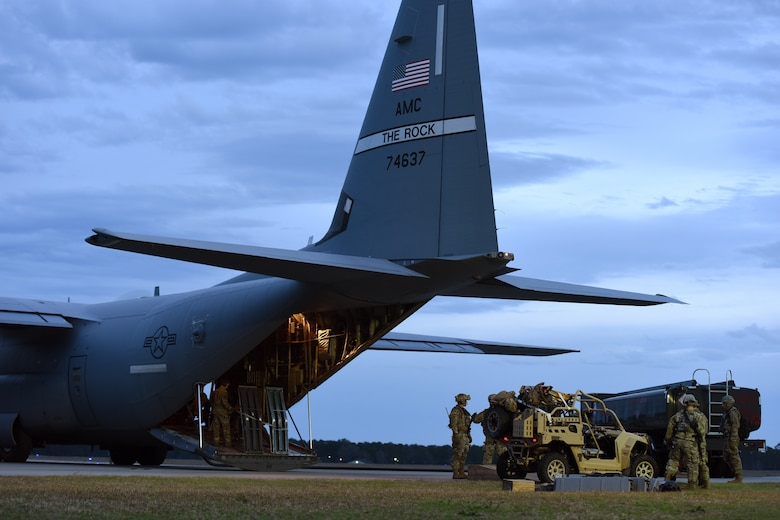 McEntire Joint National Guard Base, home of the South Carolina Air National Guard's 169th Fighter Wing, co-hosts nighttime arming and refueling training during Exercise Agile Lion, Jan. 14, 2020.
