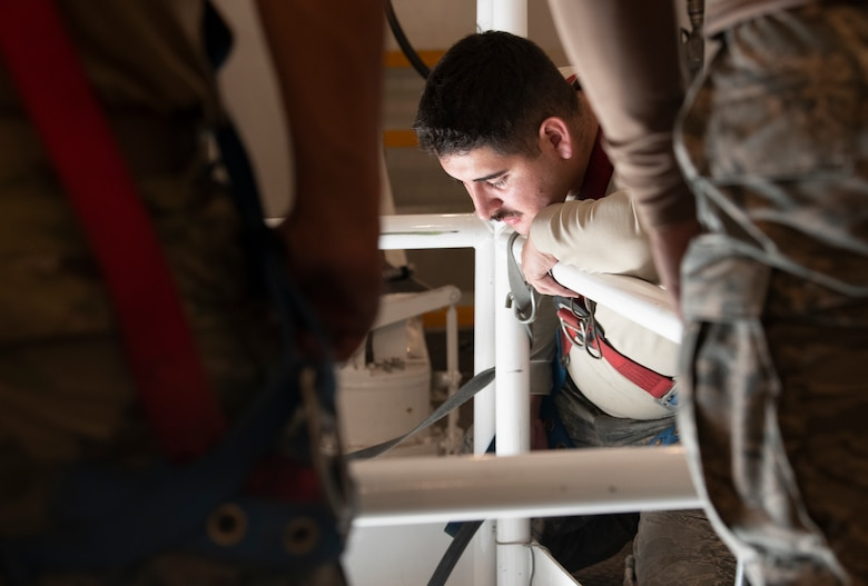 Airmen from the 90th Maintenance Group are responsible for maintaining and repairing ICBMs on alert status Dec. 18, 2019, within the F.E. Warren missile complex, as they are one of three missile bases part of Air Force Global Strike Command. The Minuteman III, on alert at all three bases, replaced the Peacekeeper at F.E. Warren in the 1970s. (U.S. Air Force photo by Senior Airman Abbigayle Williams)