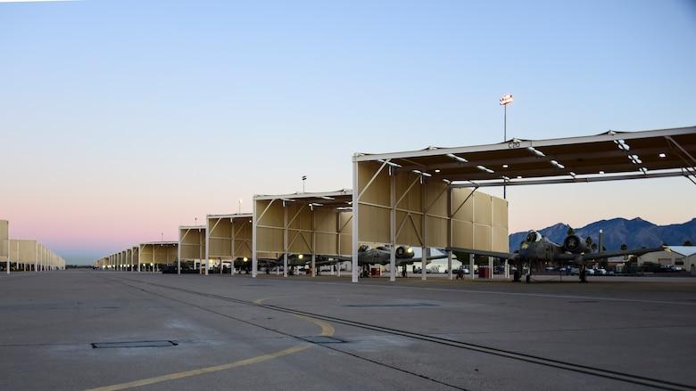 A-10 Thunderbolt IIs sit on flight line