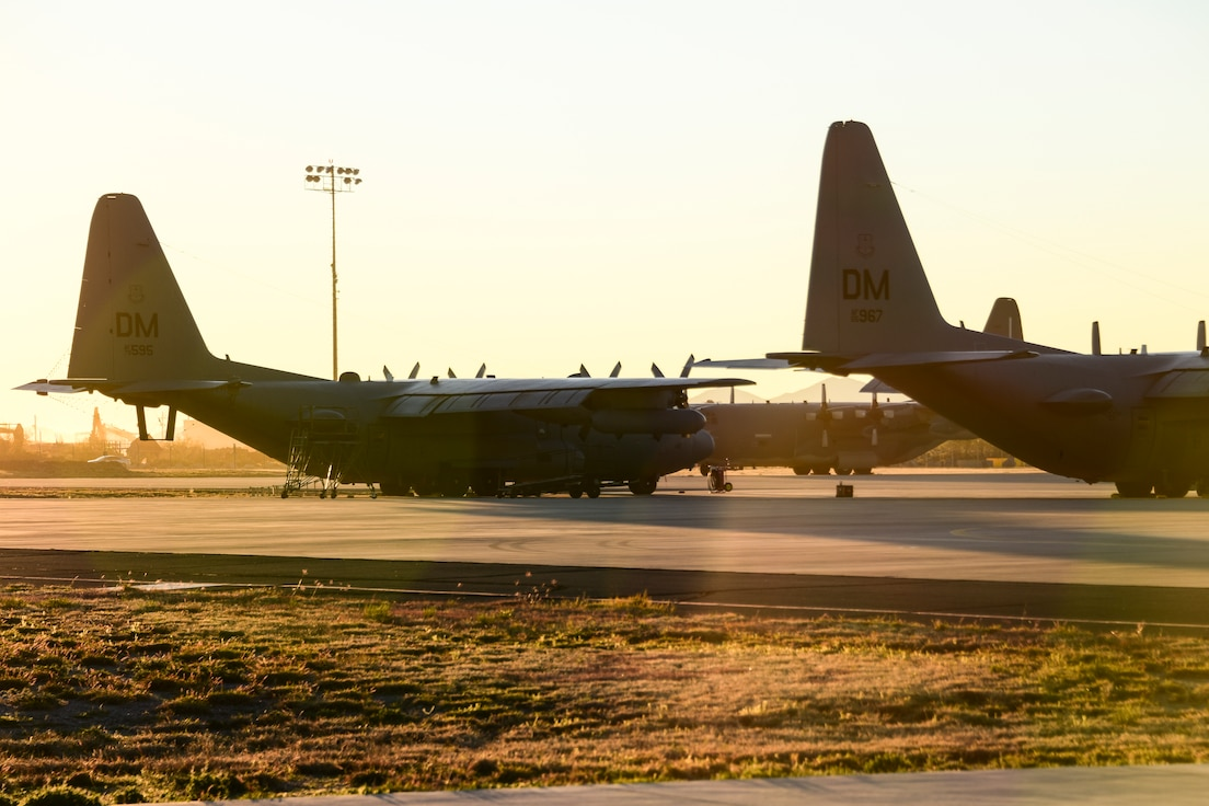 EC-130H Compass Calls sit on flight line