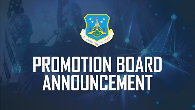 Promotion Board Announcement graphic.