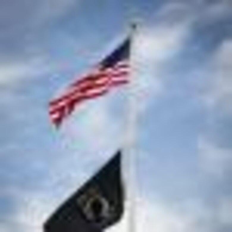 POW/MIA flag is flown above Scott Air Force Base, Ill.