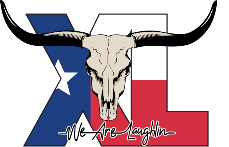 """XL"" Logo for Laughlin Air Force Base in 2019. (U.S. Air Force Graphic by Senior Airman Marco A. Gomez)"