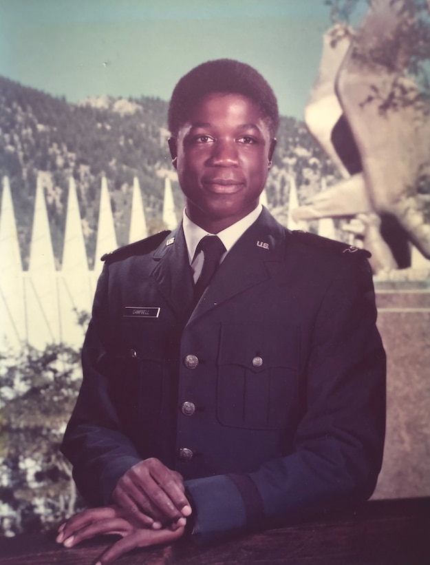 Col. Patrick Campbell's official photo from his freshman year at the U.S. Air Force Academy in 1976. Campbell went to the Academy Prep School from July 1975 to May 1976 and then was a USAFA cadet from June 1976 to May 1980. (Courtesy photo)