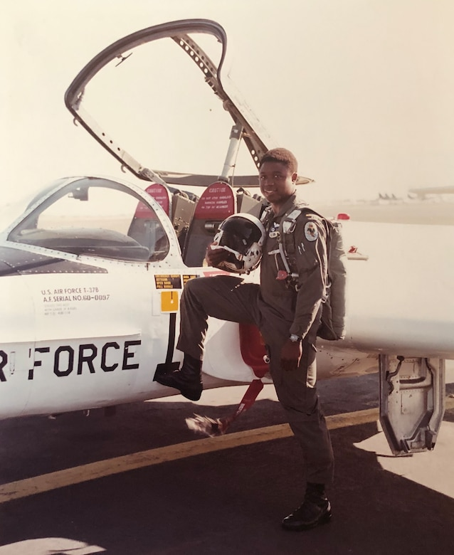 A photo of Col. Patrick Campbell as a young lieutenant at navigator training at Mather Air Force Base, Calif. in the summer of 1981. After graduating, Campbell went on to fly in the backseat of the F-4G Wild Weasel as an electronic warfare officer. Campbell recently served as the 94th Operations Group commander before retiring this week at the end of a 34-year career. (Courtesy photo)