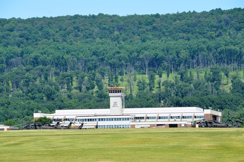 Muir Army Airfield at Fort Indiantown Gap, Pa., is home to both the main element of the 28th Expeditionary Combat Aviation Brigade and the Eastern Army National Guard Aviation Training Site, making it one of the busiest heliports in the country.