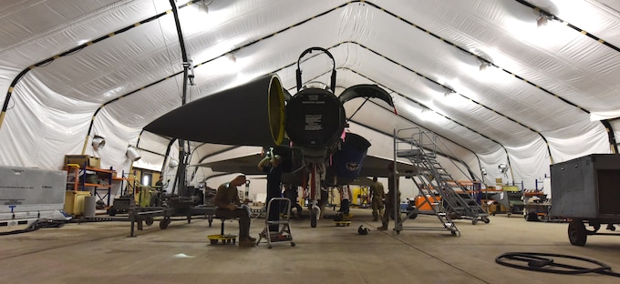 Photo of  378th Expeditionary Maintenance Squadron phase aircraft maintenance inspections