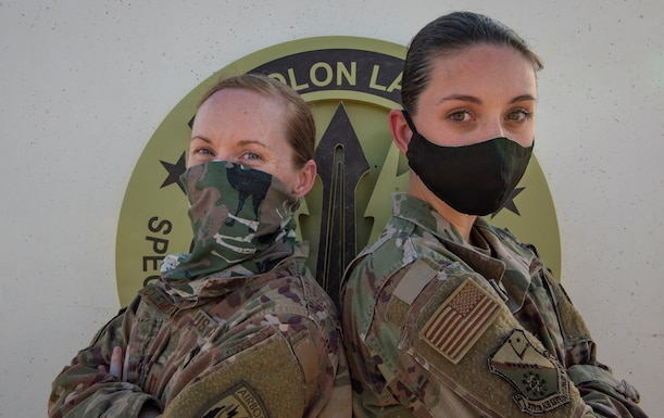 Photo of USAF Sisters Deployed Together at Al Udeid