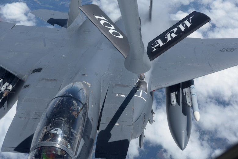 F-15 receives fuel