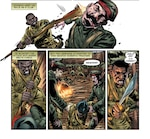 Sgt. Henry Johnson, a New York National Guard Soldier who was awarded the Medal of Honor posthumously for his actions during World War I, attacks a German Soldier in these panels from a digital graphic novel about Johnson released by the Association of the United States Army. Johnson, a railroad porter in Albany, N.Y., was a member of the New York National Guard's 369th Infantry.
