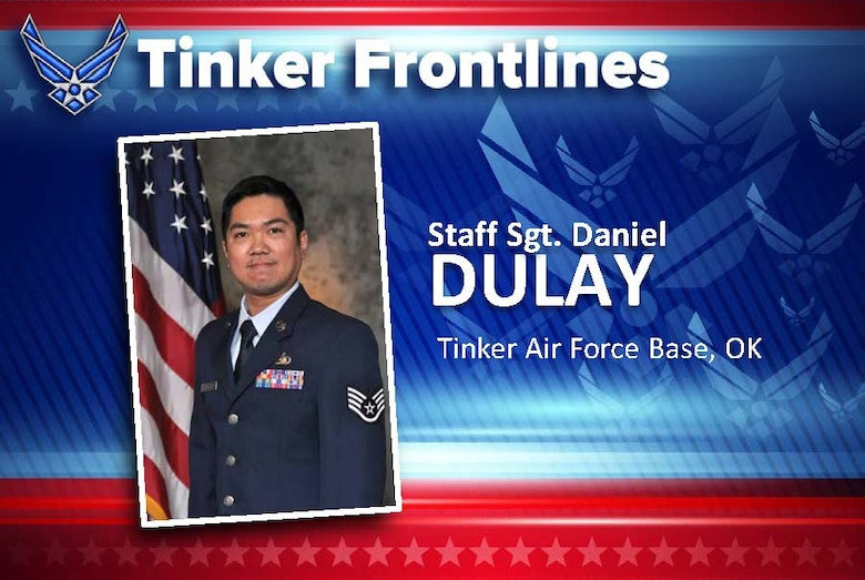 Staff Sgt. Daniel T. Dulay is a logistics planner in the 72nd Logistics Readiness Squadron.