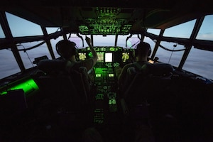 C-130J flies over East Africa
