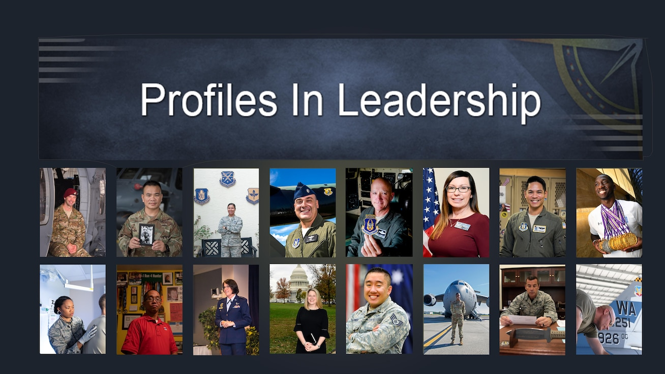 Profiles in Leadership Volume V collective graphic which links to page displaying full posters
