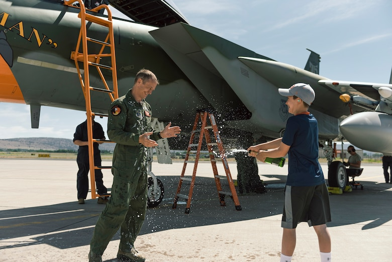 Pilot with son