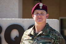 Airman poses for photo.