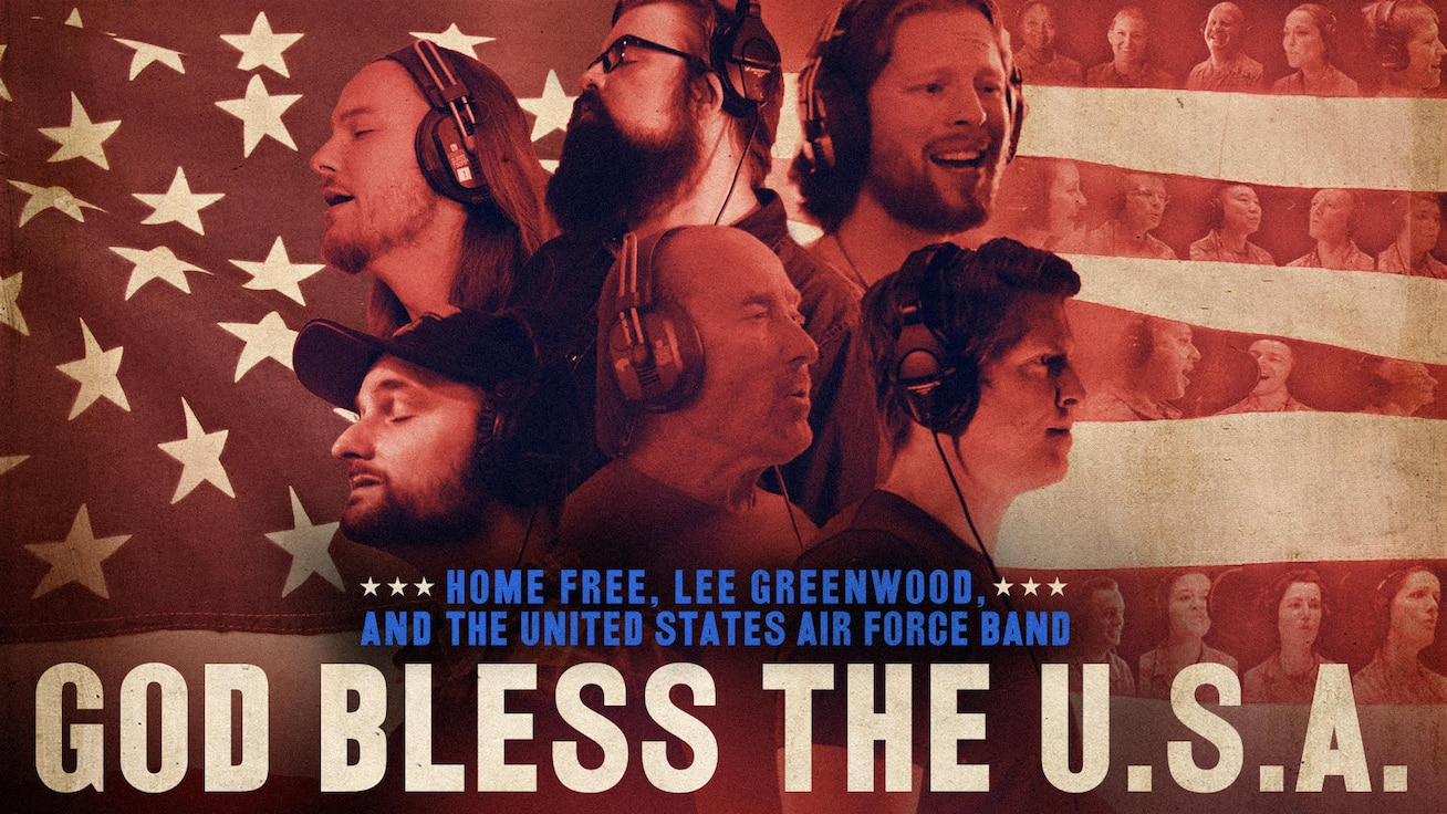 """God Bless the U.S.A."" is one of America's most iconic songs, so we are thrilled to have been part of history in the brand new cover of this hit, featuring Lee Greenwood, Home Free, and the Singing Sergeants!"