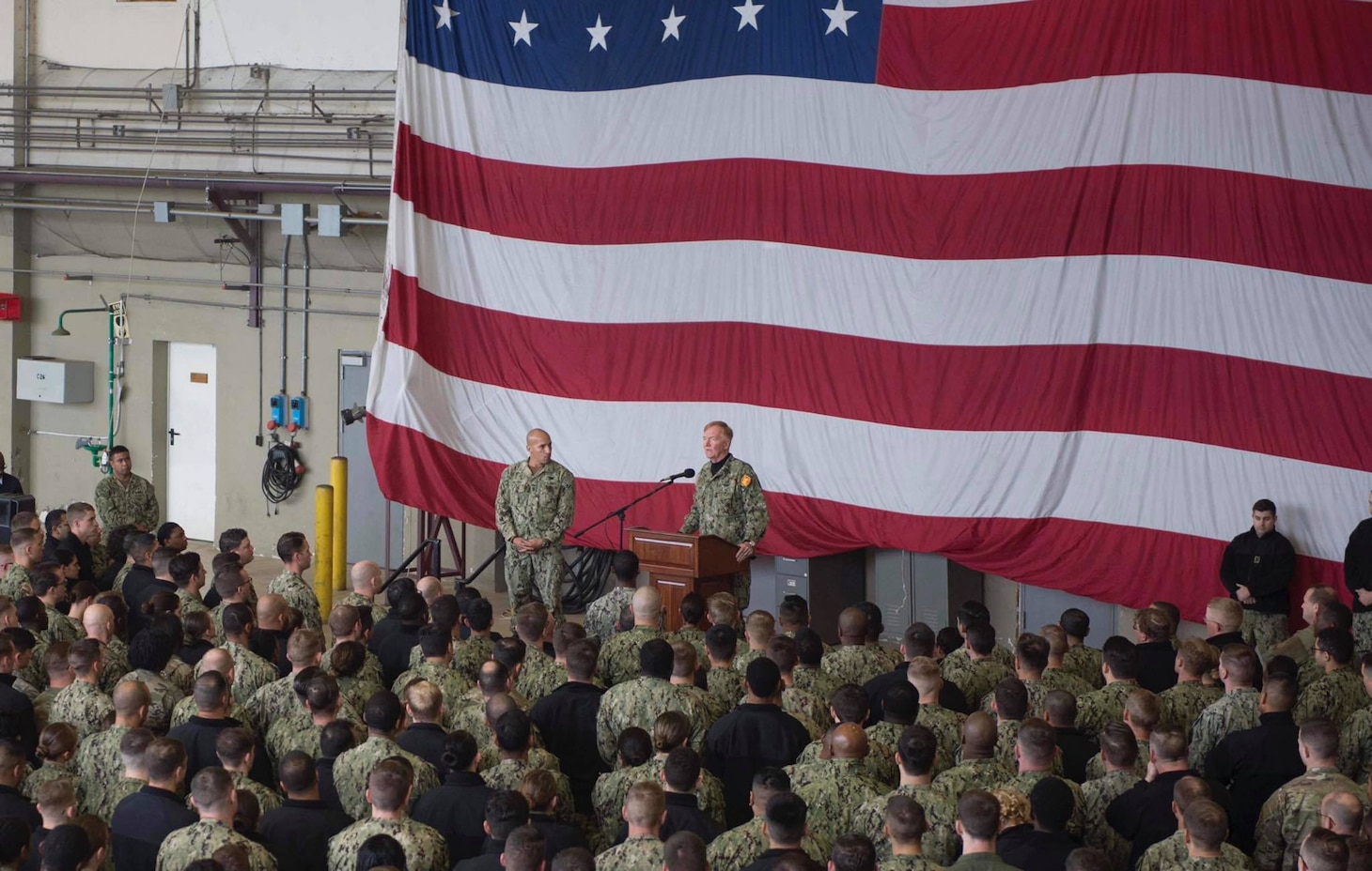 Adm. James G. Foggo III Speaks at All-Hands Call