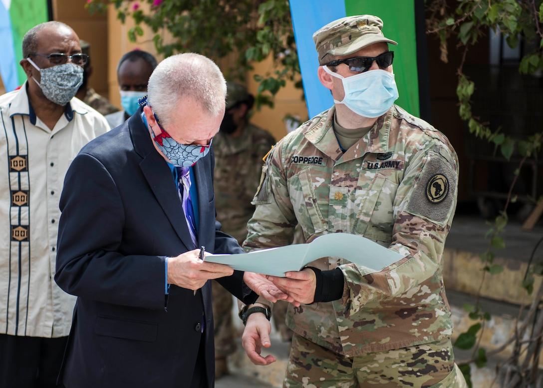 CJTF-HOA supports Djibouti's fight against COVID-19