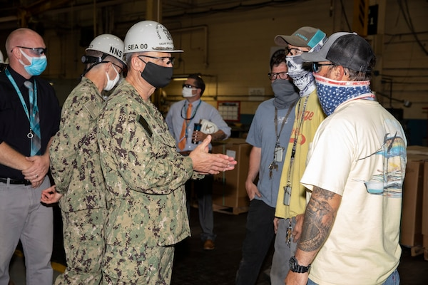 Commander, Naval Sea Systems Command (NAVSEA), Vice Admiral Bill Galinis visited Norfolk Naval Shipyard (NNSY) June 30 to see firsthand how America's Shipyard supports the NAVSEA mission of delivering ships and submarines back to the Fleet.