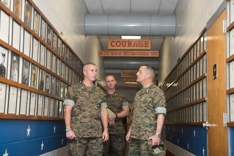 Lt. Gen. Michael A. Rocco, Deputy Commandant for Manpower and Reserve Affairs, visits Drill Instructor School on Marine Corps Recruit Depot Parris Island, on April 11, 2019. Rocco visited Parris Island to meet with Marines and senior leadership to discuss the overall conditions of the island and future of recruit training.
