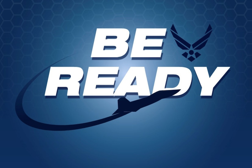 "The words ""Be Ready"" on a blue background."