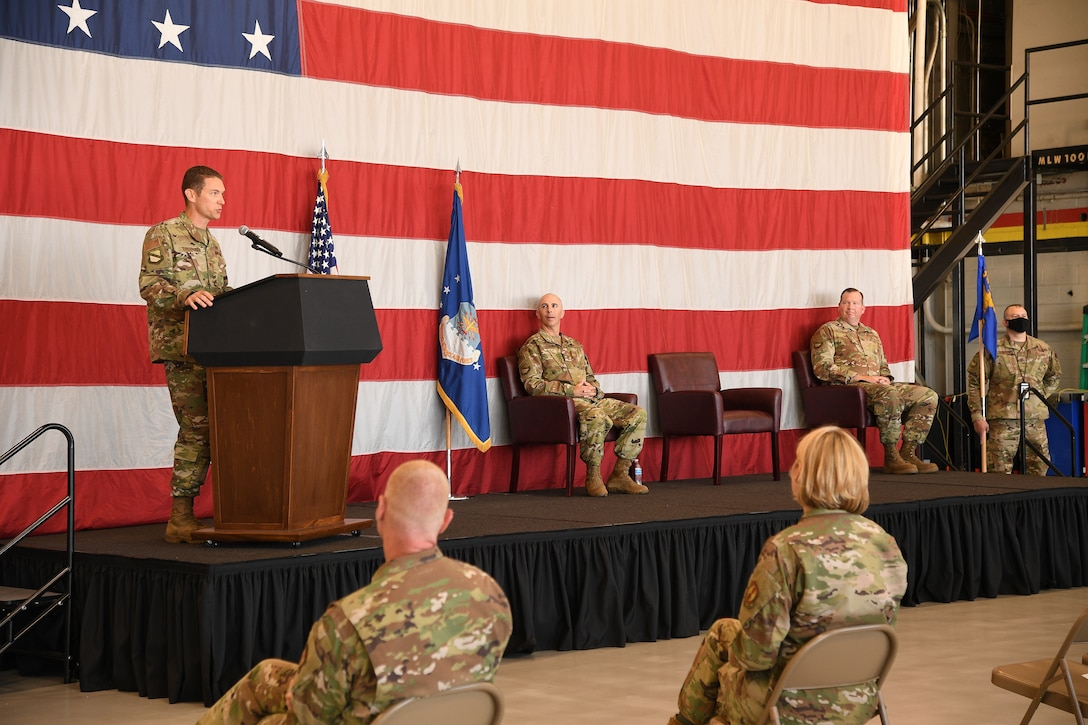 A photo of the 388th Maintenance Group change of command
