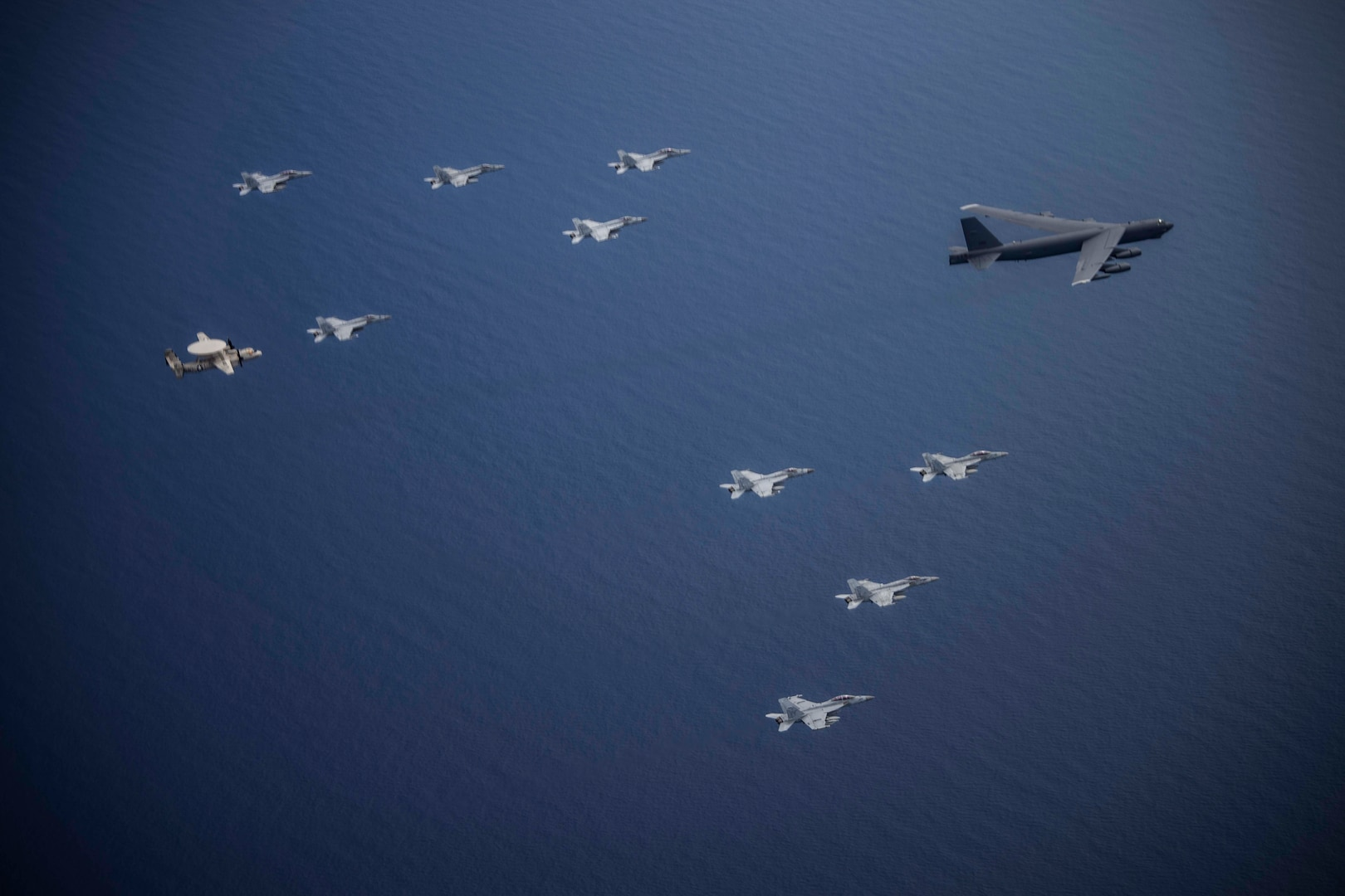 A B-52 exercises Dynamic Force Employment with Joint partners in Indo-Pacific