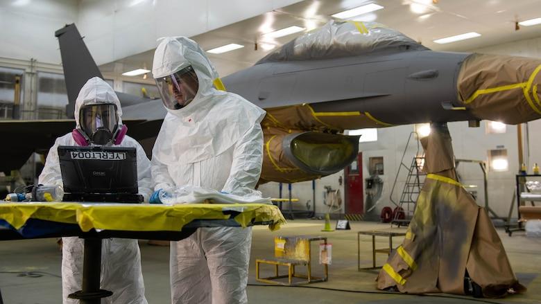 Luke changes F-16 paint scheme to single color