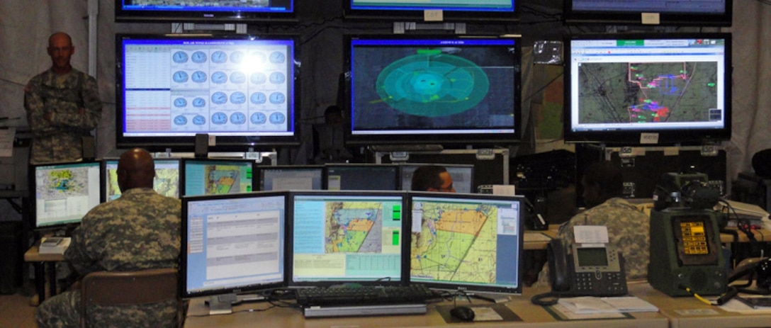 Command and Control Display.  Management of Army Systems requires situational awareness provided by a Common Operational Picture (COP).