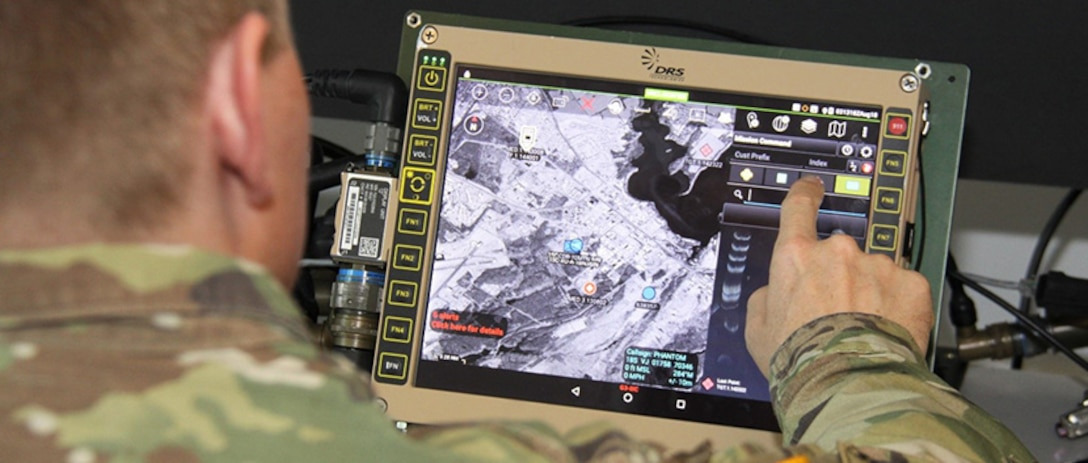 Tactical Display for Mounted Computer Environment.  Computers and software are being developed to support mobile users. (Photo Credit: U.