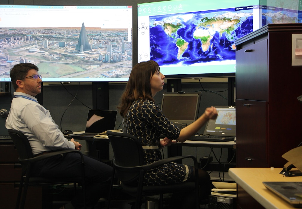 The Army Geospatial Enterprise (AGE) Node replicates multiple Army Computing Environments and supports prototyping and certification within a testbed located in Alexandria, VA. The AGE Node helps the Army evaluate standards and interoperability in support of the AGE. (Photo credit: Army Geospatial Center, U.S. Army)