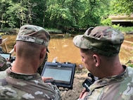 Mobile Computing Supports Field Applications. Soldiers access geospatial data in the field. Geospatial data is accessible from multiple computing environments.
