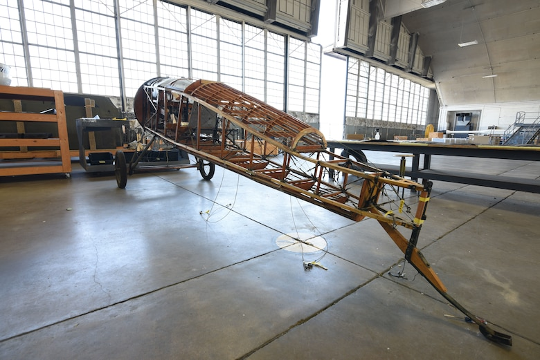 Thomas-Morse S4C Scout in restoration.