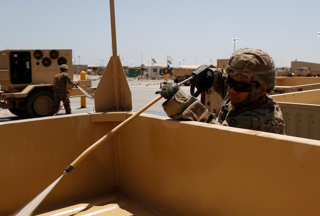 Wash Rack Operations at Camp Arifjan