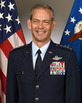 This is the official photo of Gen. Kenneth S. Wilsbach.