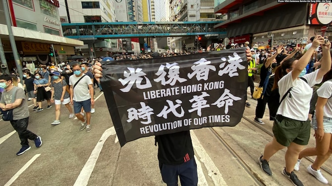 On 1 July 2020, the first day of the implementation of the Hong Kong version of the National Security Law, tens of thousands of protesters gathered on the streets in Causeway Bay to march.