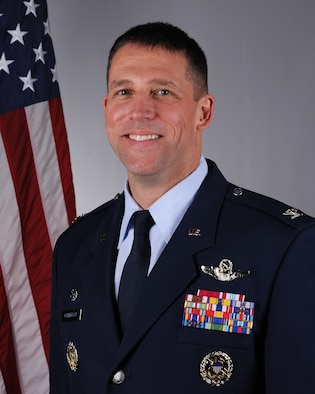 """Colonel Jason A. Camilletti is the Commander of the 48th Fighter Wing at Royal Air Force Lakenheath, England, the only wing in the Air Force with an official name, the """"Statue of Liberty Wing."""" (U.S. Air Force photo by Senior Airman Shanice Williams-Jones)"""