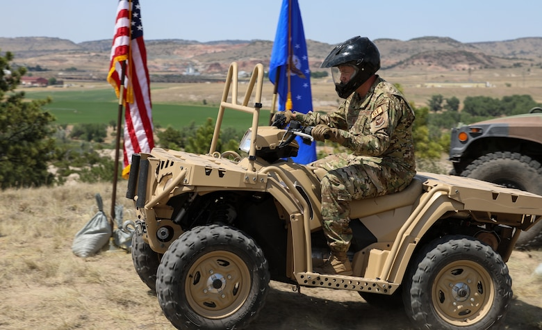 Major Binion on an ATV