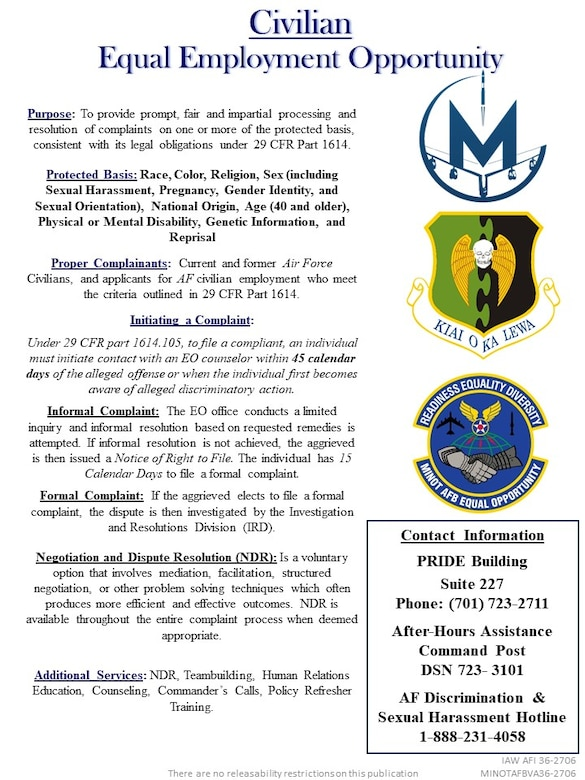 Minot Air Force Base's Equal Opportunity's new graphics