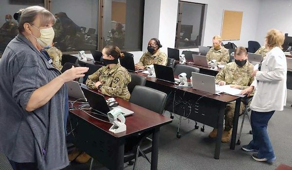 Soldiers from the Urban Augmentation Medical Task Force-627 attended integration and training at Methodist Hospital training center in San Antonio July 8.