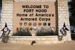 The main gate at the Fort Hood Army Base is seen on South Fort Hood Street in Killeen, Texas. Four civilian consultants, which the Army will hire as highly qualified experts, will form a panel and spend an estimated five to 10 days at Fort Hood. They will review historical data, such as command climate surveys, Inspector General reports, criminal/military justice reports and sexual harassment and sexual assault response program statistics, additionally they will conduct interviews with military members and members of the Fort Hood community.