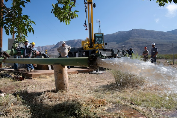 49th Civil Engineer Squadron fixes a water well