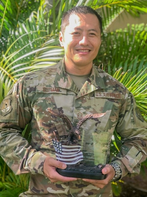 Senior Master Sgt. Michael Guzman, assigned to the Hawaii Air National Guard 201st Combat Operations Squadron, took top honors as the  2019 Command and Control Battle Management Operations Noncommissioned officer of the year.