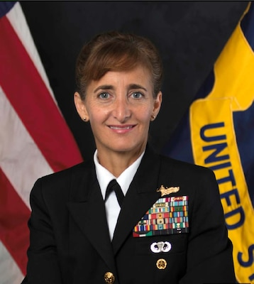 Official bio photo of Navy Rear Admiral Yvette M. Davids, Chief of Staff, U.S. Southern Command. (U.S. Navy photo)